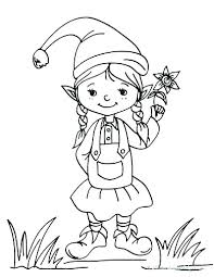 elf on the shelf coloring sheets printable pages colouring to print girl