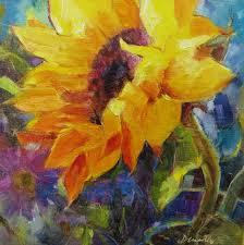 good day sunshine sunflower oil painting