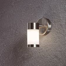 modern stainless steel led outdoor wall mounted lighting ideas with motion activated ideas
