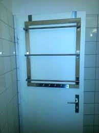 glass shower door towel hooks holder bar handle over the rack bathrooms awesome