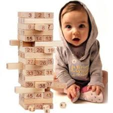 Game Played With Wooden Blocks Discount Wooden Jenga Tower Game Number Building Blocks 86
