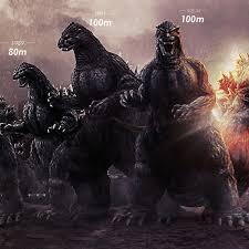 Godzilla Size Chart Godzilla Size Chart Shows How Much The King Of Monsters