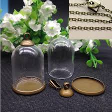dome cloche glass globes bottle jar pendant antique bronze tray base and top terrarium charm apothecary