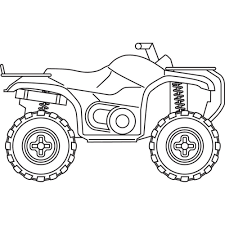 Christmas coloring pages for kids & adults to color in and celebrate all things christmas, from santa to snowmen to festive holiday scenes! Atv Coloring Pages Coloring Home