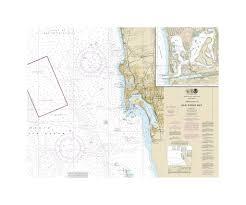 San Diego Mission Bay Nautical Chart Sailcloth Print Shut