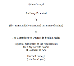 format thesis thesis format the committee on degrees in social studies