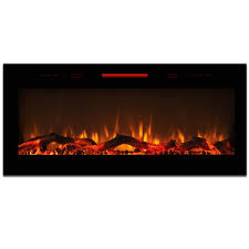home electric fireplaces wall mounted electric fireplaces elite flame 50 inch fusion log built in smokeless wall mounted electric fireplace