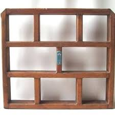 box shelves vintage wood shelf wall hanging miniatures collectibles shadow box country rustic decorative home decor retro