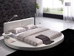 Beautiful Round Bed Ideas That Will Spruce Up Your Bedroom : Vilenno Queen  Size Round Platform