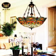 amazing ideas tiffany dining room light dragonfly stained glass chandelier living on tiffany