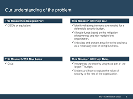 Build Optimize And Present A Risk Based Security Budget Ppt Download
