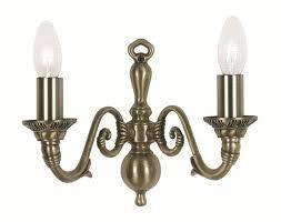 amaro double wall light antique brass oaks lighting