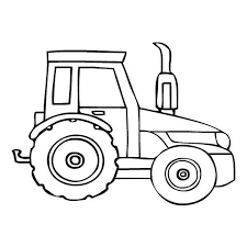 Free Tractor Coloring Pages For Kids Coloringstar