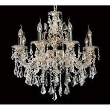 arrow decorative 8 light crystal chandelier in antique nickel