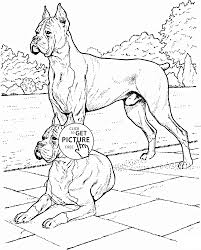 Small Picture Boxer Dogs coloring page for kids animal coloring pages