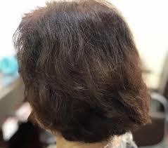 毛の量が多いくせ毛広がらないブローレス髪型 くせ毛ブローレス