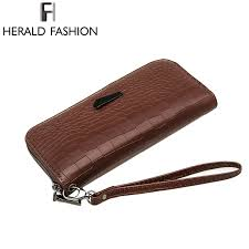 herald fashion las brand handy long wallet women luxury leather credit card holder money wallets and