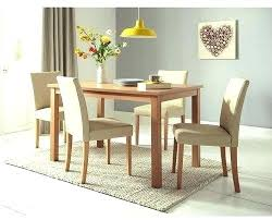 cm dining table 4 faux leather chairs cream oak with glass brown and round extending cream dining table oak