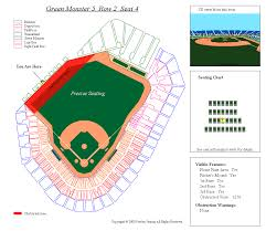 Fenway Park Seating Chart View 3d Fenway Park Seating Chart Precise Seating Llc Samples