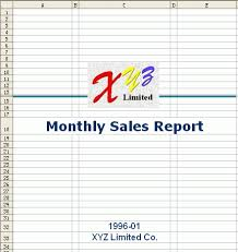 sales report example excel free excel report template monthly sales 1