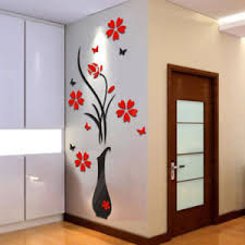>crystal wall decor ebay diy vase flower tree crystal arcylic 3d wall stickers decal home decor