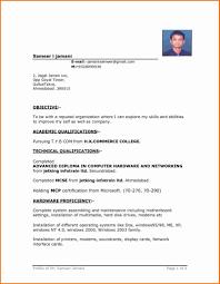 Basic Resume Template Word Gulijobs Com