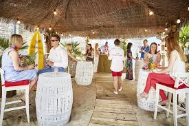 hang ten or just hang out at the montague on the gardens tropical beach bar