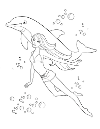 Barbie Mermaid Colouring Barbie Coloring Pages For Kids Excellent