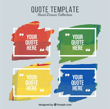 quote templates artistic quote templates of paint vector free download