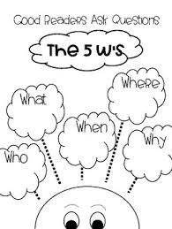 5 W Questions Anchor Chart Rl 2 1