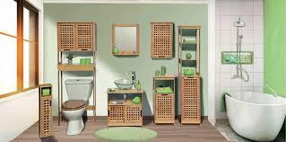 Tendance Unterwaschbecken 2 Schiebetüren 1 Einlegeboden Aus Bambus