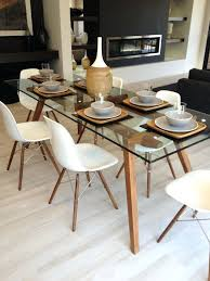 glass round table and chairs medium size of minimalist dining room furniture round glass table set