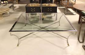 oversized 54 square chrome and brass