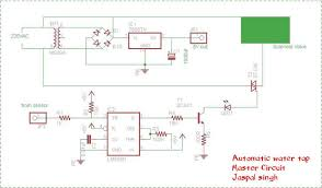 automatic water tap using 555 timer 4 steps circuit diagrams