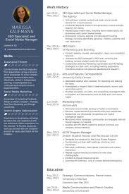 Seo Specialist And Social Media Manager Resume samples