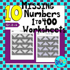 Missing Numbers Worksheets 10 Missing Numbers 400s Chart Worksheets By Myabcdad Learning For Kids