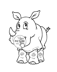 Small Picture cartoon animals coloring pages for kids printable free