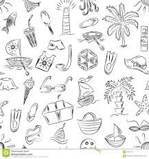 Modello Senza Cuciture Dei Simboli Disegnati A Mano Di Posti Vacanti