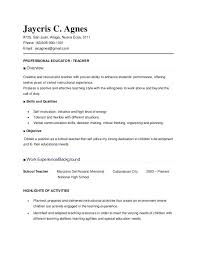 Examples Of Education Resumes Education Resumes Examples Simple Resume Format
