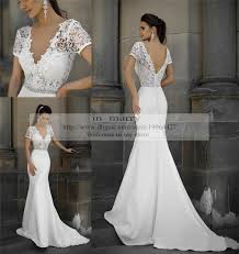 plus size mermaid vintage lace wedding dresses fitted 2015 sexy v