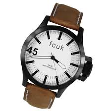 french connection fcuk mens leather watch fc1140t french connection fcuk gents leather watch fc1140t