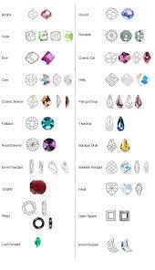 Swarovski Shapes Chart Crystal Shapes Swarovski Crystal