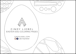 What a splendid coloring book that a princess dreams about! Art Printable Easter Egg Coloring Pages Cindy Liebel