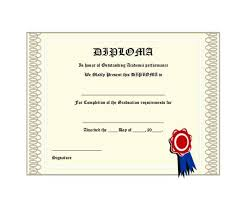 30 Real Fake Diploma Templates High School College