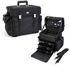 pro soft sided carry on cosmetic case w trays
