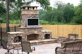 outdoor fireplace with pizza oven kit diy