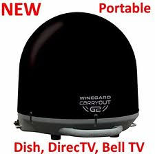 winegard satellite rv trailer camper parts new winegard carryout g2 portable dome satellite antenna gm 2035 black rv camper