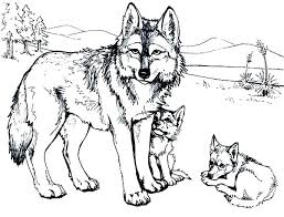 Wolves Coloring Pages Wolf Hard Anime With Wings Head For Adults