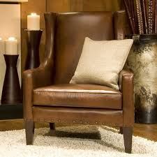 ELEMENTS Fine Home Furnishings Bristol Top Grain Leather Accent Leather Chairs Living Room