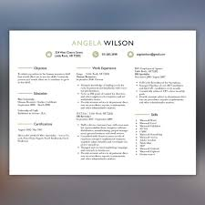 Creative Resume Template Professional Resume Instant Download - Resume  Download - Clean, Beige/Black WILSON